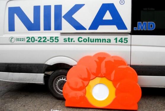световой короб, lightbox, формовка Rompetrol Nika Color