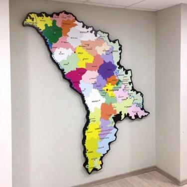карта Молдовы из оргстекла