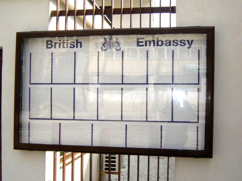 Информационное панно для посольства